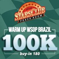STARS WARM UP 100K GARANTIDOS - WSOP - Dia 1F